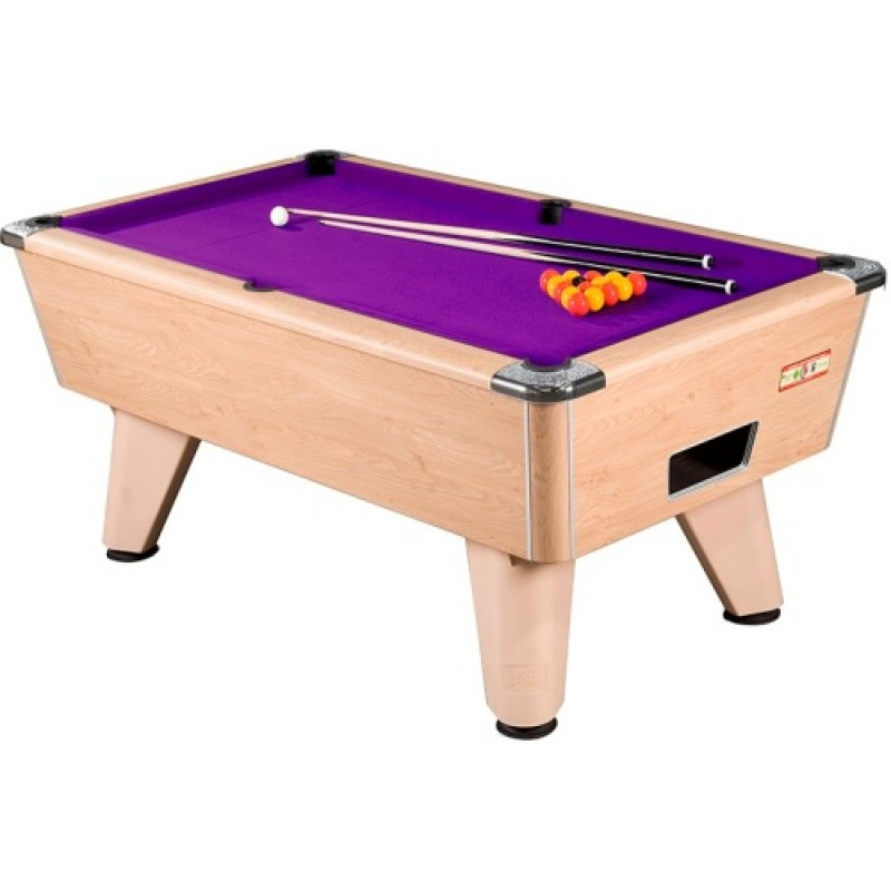 Supreme Winner Pool Table Oak