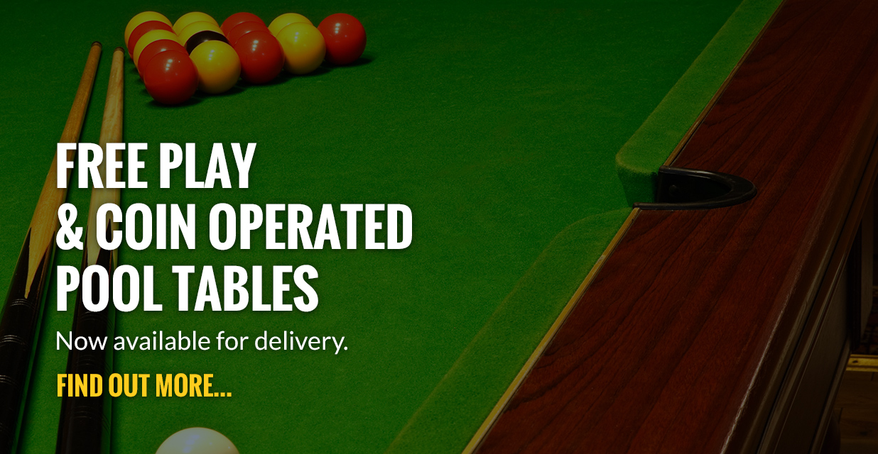 Free Play and Coin operated pool tables